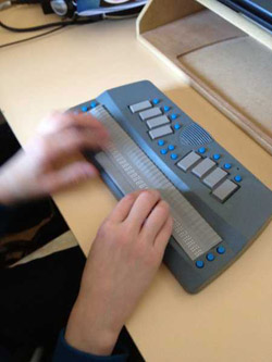 Laptop with braille display