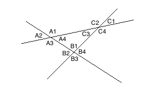 crossing lines angles