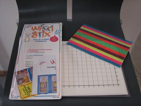 pinboard with pins and Wikki Stix
