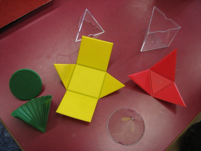 Folding Geometric Shapes' building toys, by Learning Resources