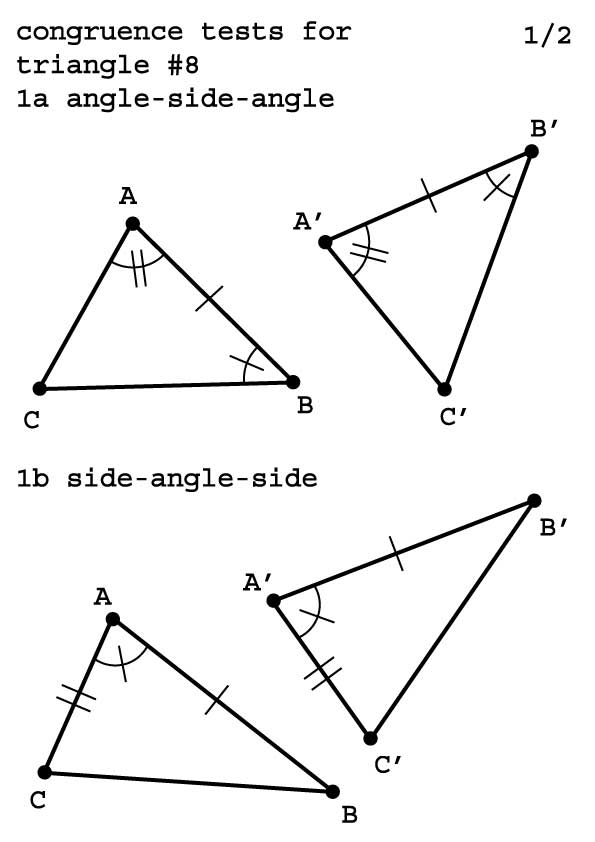 congruence test for triangle